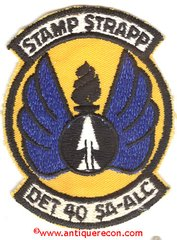 USAF STAMP STRAPP DET 40 SA-ALC PATCH - LACKLAND AFB, TX