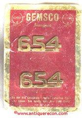 GEMSCO 654 NUMERAL COLLAR INSIGNIA