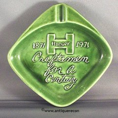 HAEGER POTTERY 1OOTH ANNIVERSARY ASHTRAY 1971
