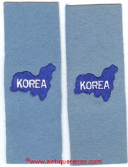 US ARMY UNITED NATIONS KOREA EPAULET TABS - MINT