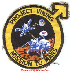 NASA PROJECT VIKING MISSION TO MARS PATCH