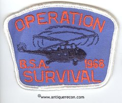 BSA OPERATION SURVIVAL 1968 PATCH
