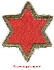 WW II US ARMY 6th INFANTRY DIVISION PATCH