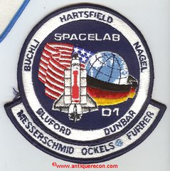 NASA STS-61A SPACELAB D1 MISSION PATCH