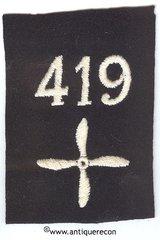WW I US 419th AERO SQUADRON ENLISTED SLEEVE INSIGNIA