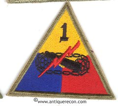 US ARMY 1st ARMORED DIVISION PATCH