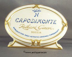CAPODIMONTE RICHARD GINORI PORCELAIN DISPLAY SIGN
