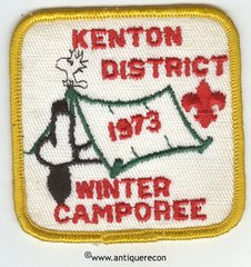 BSA KENTON DISTRICT WINTER CAMPOREE 1973 PATCH