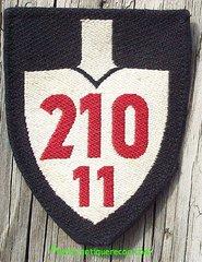 WW II GERMAN RAD GROUP 210 11th DETACHMENT ARM PATCH