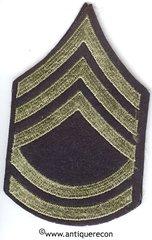 WW II US ARMY TECHNICAL SARGENT 2nd GRADE RANK STRIPES ON FELT