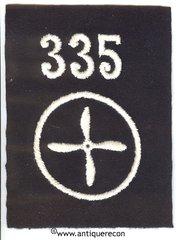 WW I US 335th AERO SQUADRON AVIATION MECHANIC ENLISTED SLEEVE INSIGNIA