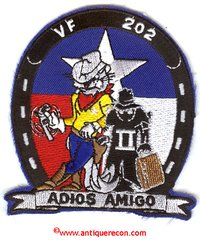 US NAVY VF-202 ADIOS AMIGO PATCH