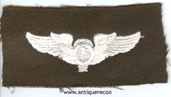 WW II US ARMY BALLOON PILOT WINGS - GABARDINE