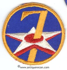 WW II US ARMY 7th AIR FORCE PATCH