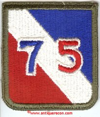 US ARMY 75th INFANTRY DIVISION PATCH