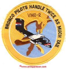 USMC MARINE OBSERVATION SQUADRON 2 VMO-2 BRONCO PATCH