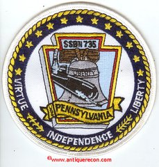 USS PENNSYLVANIA SSBN-735 PATCH