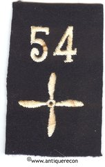 WW I US ARMY 54th AEROSQUADRON ENLISTED SLEEVE INSIGNIA