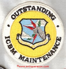 USAF STRATEGIC AIR COMMAND OUTSTANDING ICBM MAINTENANCE PATCH