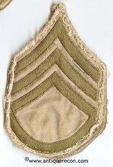 WW II US ARMY STAFF SARGENT RANK STRIPES - KHAKI
