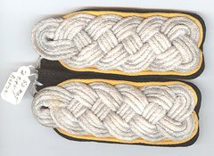 WW II GERMAN SS CAVALRY MAJOR or RECON MAJOR SLIP ON SHOULDER BOARDS