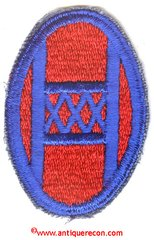 WW II US ARMY 30th INFANTRY DIVISION PATCH
