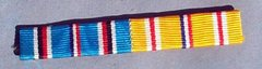 WW II US ARMY SEW ON RIBBON BAR - AMERICAN CAMPAIGN & ASIATIC-PACIFIC CAMPAIGN RIBBONS