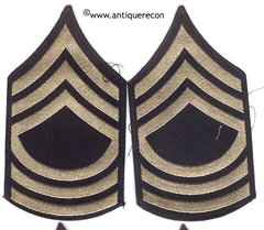 WW II US ARMY MASTER SARGENT STRIPES - FLAT WEAVE