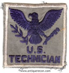 US TECHNICIAN PATCH on NAVY AVIATION GREY