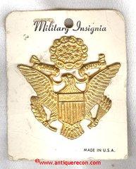 WW II US ARMY OFFICER VISOR INSIGNIA