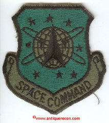 US AIR FORCE SPACE COMMAND PATCH - SUBDUED