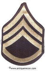 WW II US ARMY STAFF SARGENT RANK STRIPES - FLAT WOVEN