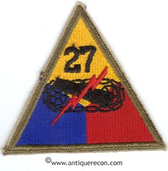 US ARMY 27th ARMORED DIVISION PATCH