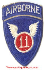 US ARMY 11th AIRBORNE DIVISION PATCH - ATTACHED TAB