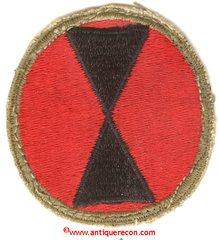 WW II US ARMY 7th INFANTRY DIVISION PATCH - used