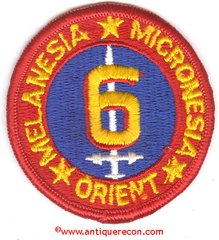 USMC 6th MARINE DIVISION PATCH