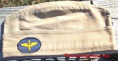 WW II US ARMY AIR FORCE AVIATION CADET ENLISTED KHAKI GARRISON CAP - Sz 6 7/8