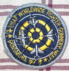 USAF WORLDWIDE FIGHTER GUNNERY MEET GUNSMOKE 87 PATCH