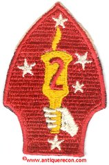 WW II USMC 2nd MARINE DIVISION PATCH