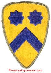 WW II US ARMY 2nd CAVALRY PATCH - GREEN BACK
