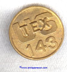 US 143rd TEXAS NATIONAL GUARD ENLISTED COLLAR DISK - 1930's
