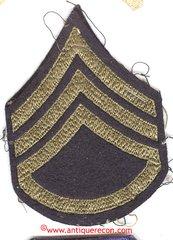 WW II US ARMY STAFF SARGENT RANK STRIPES - used