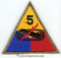 US ARMY 5th ARMORED DIVISION PATCH