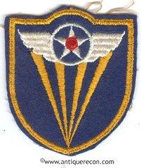 WW II US ARMY 4th AIR FORCE PATCH ON FELT