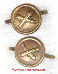 US ARMY ARTILLERY CAP BUTTONS - 1881 PATTERN
