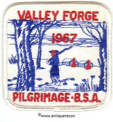 BSA VALLEY FORGE PILGRIMAGE 1967 PATCH