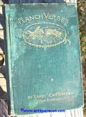 RANCH VERSES - CHITTENDEN - 1893 SECOND EDITION