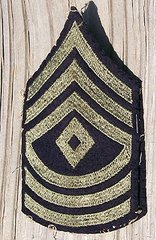WW II US ARMY 1st SARGENT STRIPES