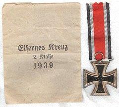 WW II GERMAN IRON CROSS EK II WITH ORIGINAL PRESENTATION PACK