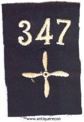 WW I US 347th AERO SQUADRON ENLISTED SLEEVE INSIGNIA